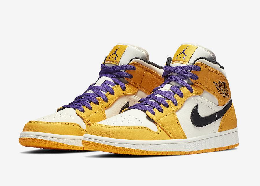 """Air Jordan 1 Mid SE """"Lakers"""" - Sneakers"""